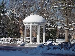 Chapel Hill NC in the winter